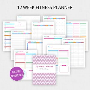 12 Week Fitness Planner Printable