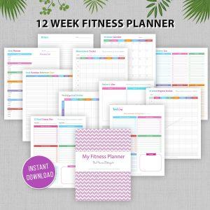 12 Week Fitness Planner Printable