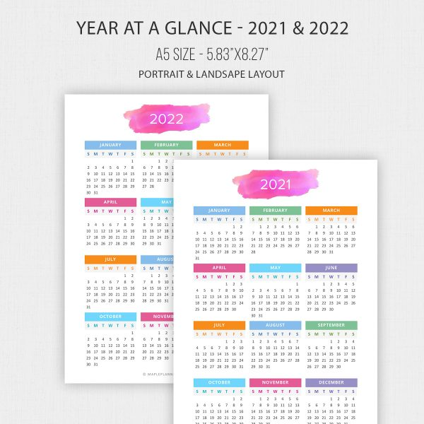 Year at a Glance 2021 - 2022