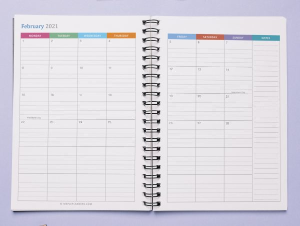 A5 Monthly Planner Printable