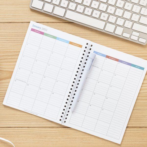 Printable A5 Monthly Calendar 2021