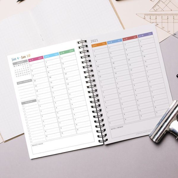 A5 Vertical Weekly Planner 2021