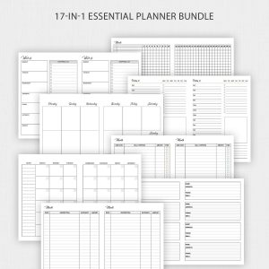 TN B6 Travelers Notebook Inserts Planner Bundle