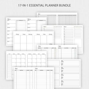 TN B6 Travelers Notebook Inserts Planner Bundle