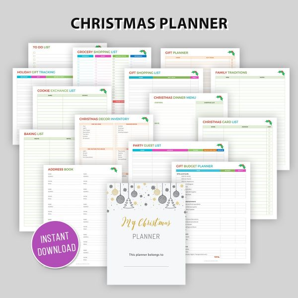Printable Planner to Stay Organized this Christmas