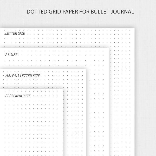 Printable Dot Grid Paper for Bullet Journal and Notes