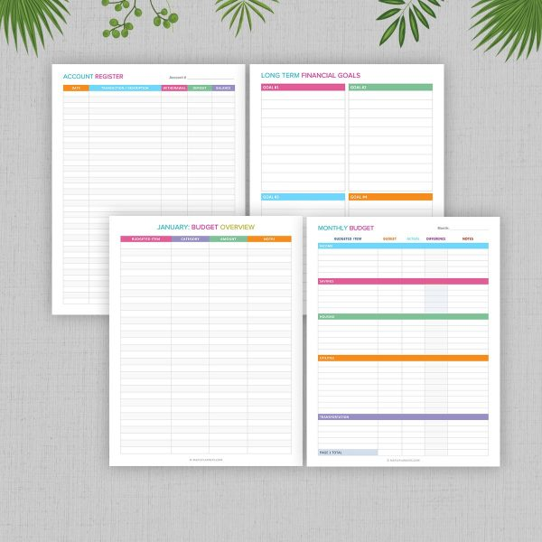 Printable Finance and Budget Planner