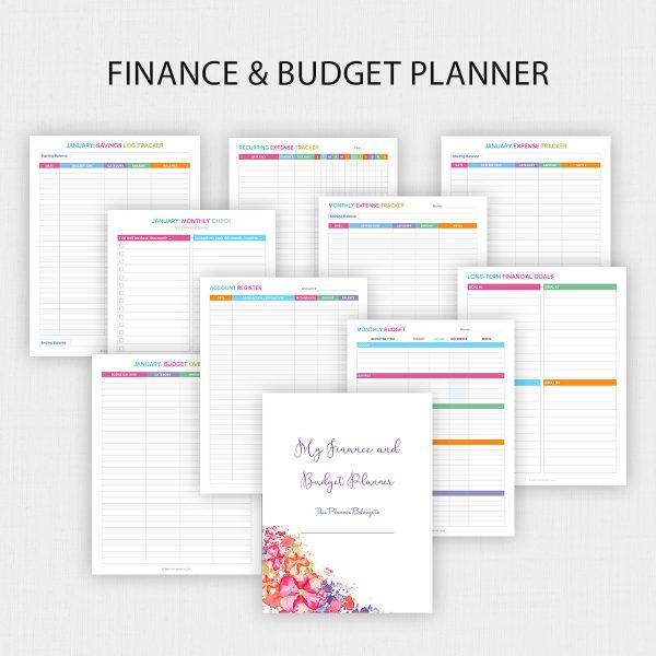 Finance and Budget Planner Printable