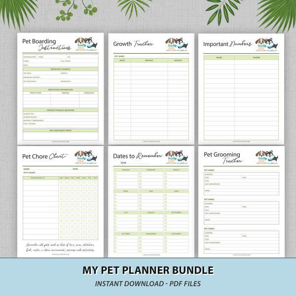Pet Care Planner Printable