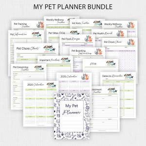 Printable Pet Care Planner