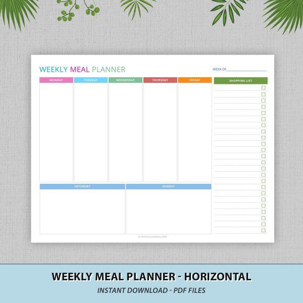 Weakly Meal Planner Printable