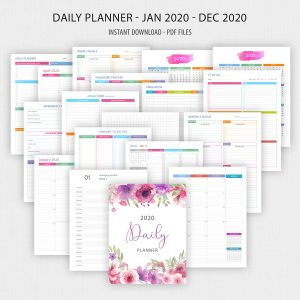 Printable 2020 Daily Planner Binder