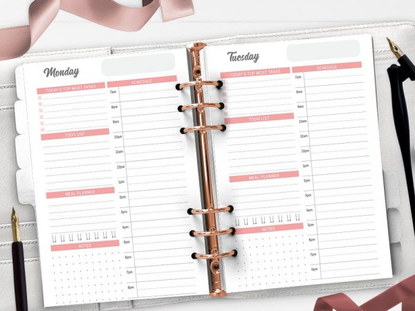Daily Planner Printable Inserts