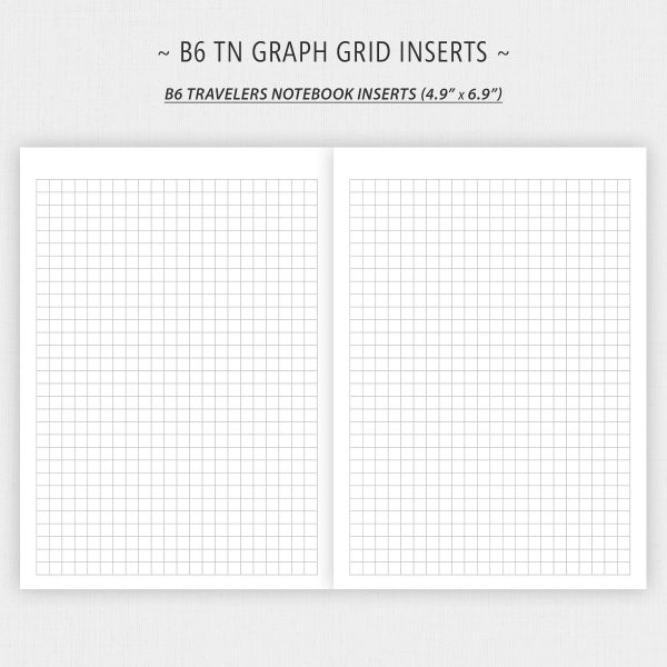 B6 TN Inserts for Graph Paper Printable