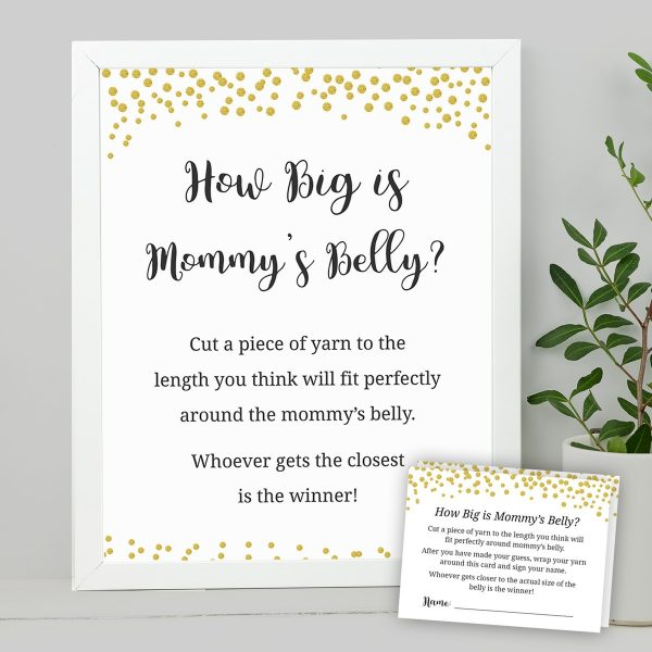 Printable How Big is Mommy's Tummy Game