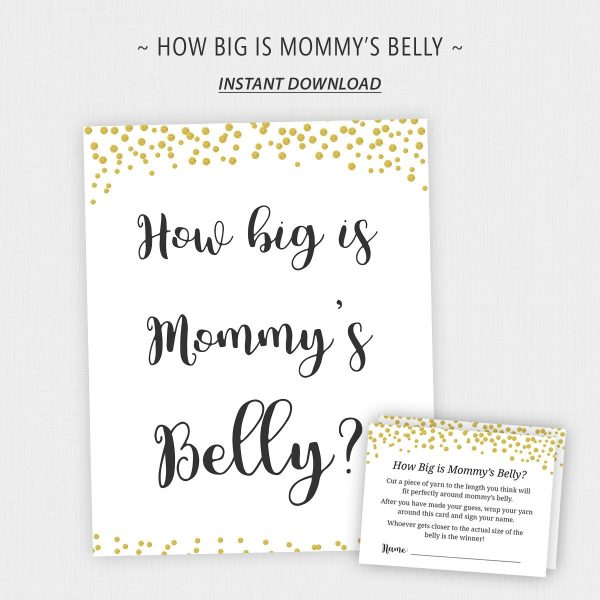 Printable Baby Bump Game