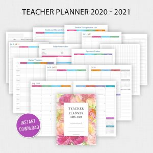 2020 – 2021 Teacher Planner Printable