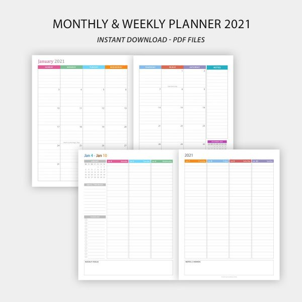 The essential daily planner 2021 printable