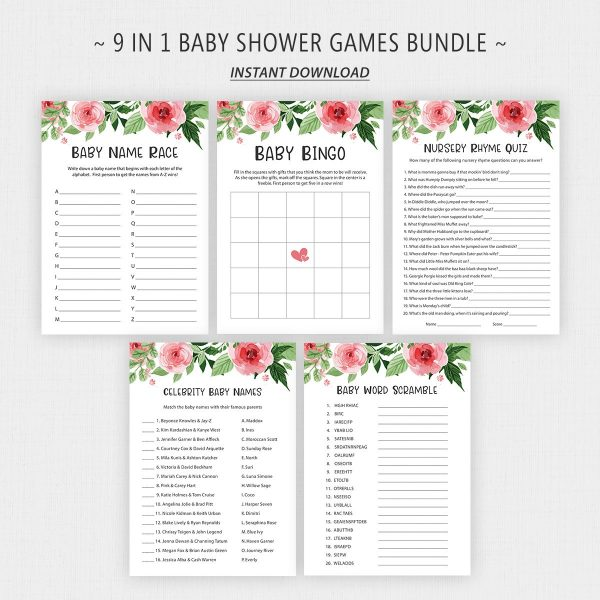 Printable Baby Shower Games Pack