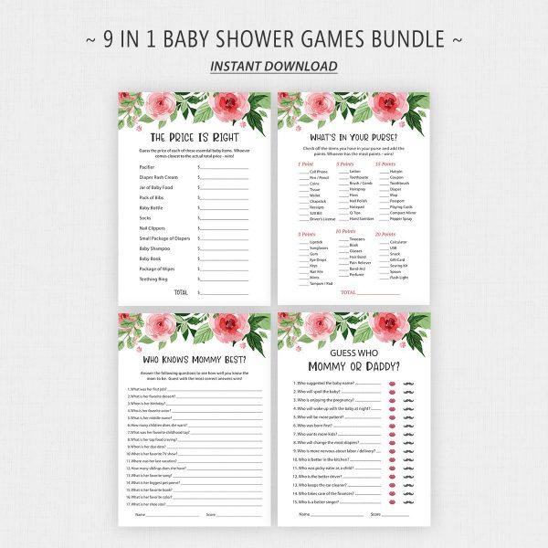Printable Baby Shower Games Bundle