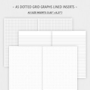 Free A5 Size Dot Grid Graph Lined Paper