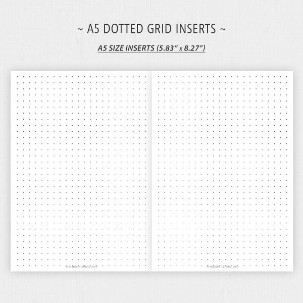 A5 Size Dotted Grid Paper Printable