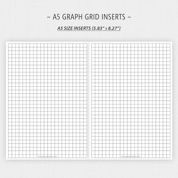 A5 Size Graph Grid Paper Printable