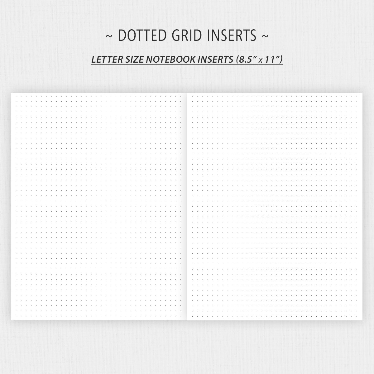 Dot Grid Graph Lined Paper Inserts For Bullet Journaling